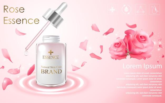 Plantilla de anuncios cosméticos