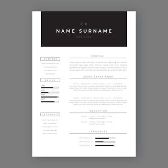 Plantilla de aplicación de estilo minimalista