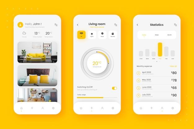 Plantilla de aplicación de hogar inteligente