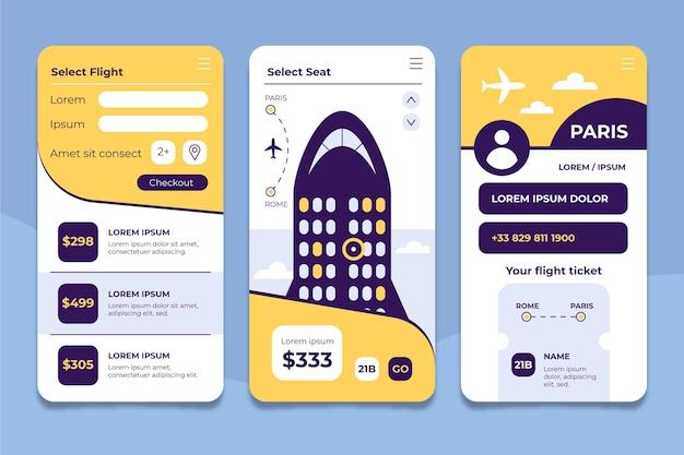 Plantilla de aplicación de reserva de viajes