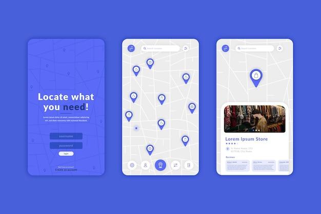 Plantilla de aplicación de ubicación creativa