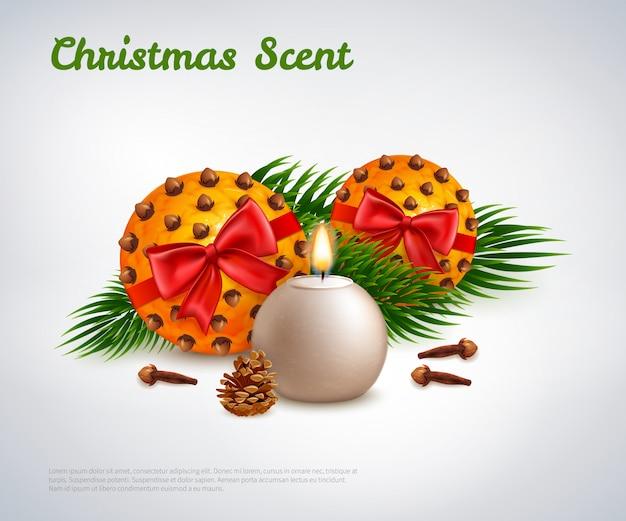 Plantilla de aroma navideño