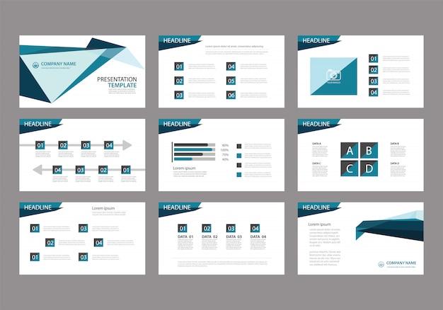 Plantilla azul para la presentación de diapositivas en el fondo.