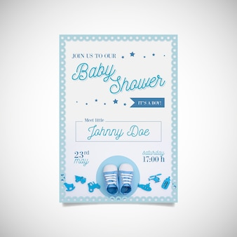 Plantilla de baby shower de niño con foto