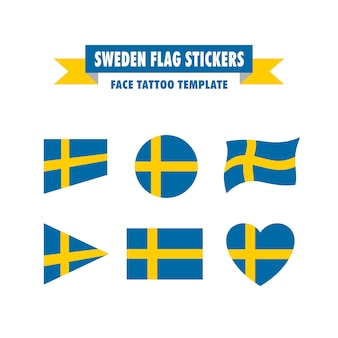 Plantilla de bandera de suecia