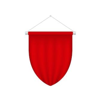 Plantilla de banderín en blanco realista