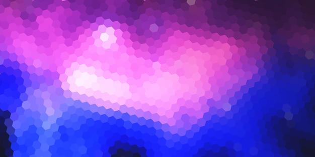 Plantilla de banner abstracto con diseño geométrico hexagonal