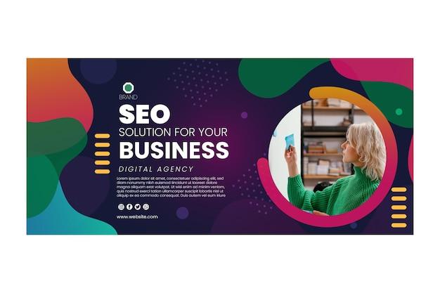 Plantilla de banner de agencia digital empresarial