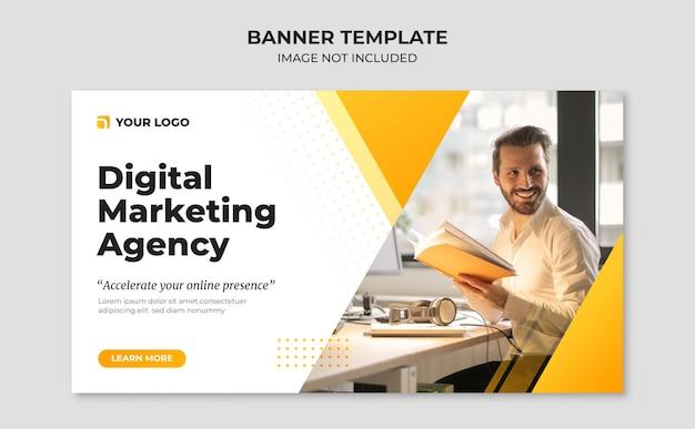 Plantilla de banner de agencia de marketing digital