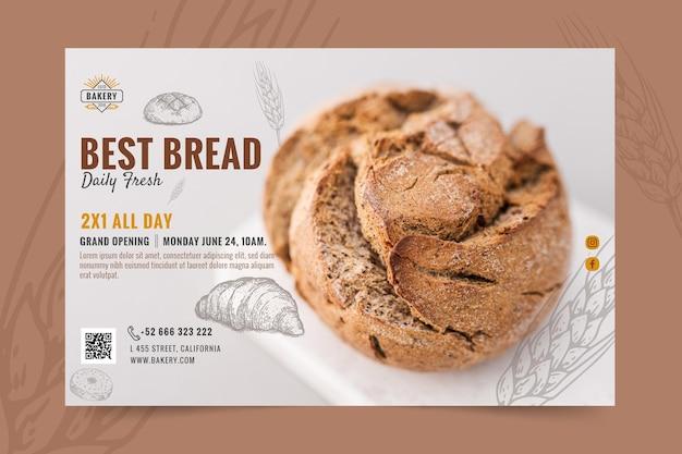 Plantilla de banner de apertura de panadería