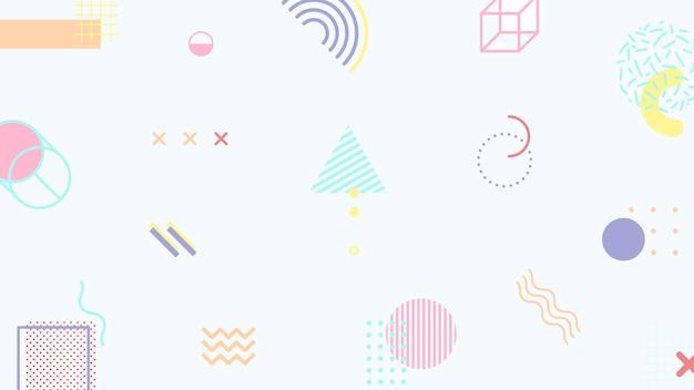 Plantilla de banner de blog de memphis en tono pastel