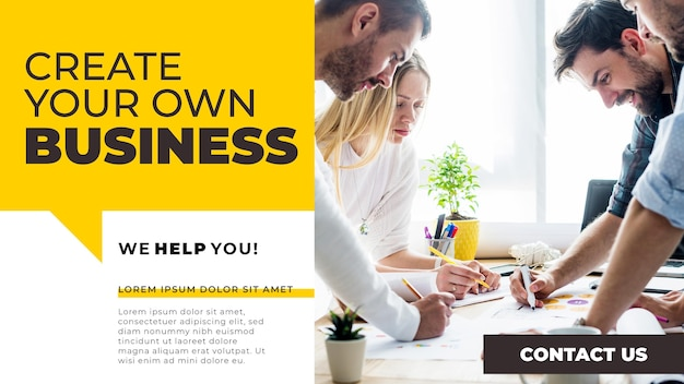 Plantilla de banner de blog de negocios