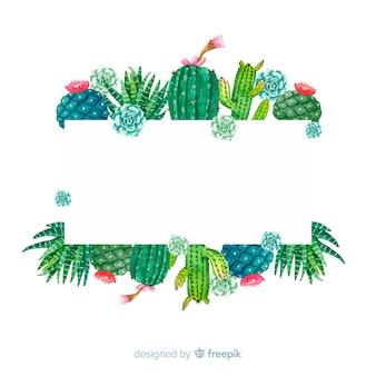 Plantilla de banner con cactus