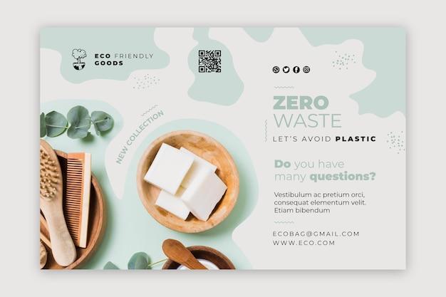 Plantilla de banner de cartel de desperdicio cero