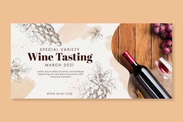 Plantilla de banner de cata de vinos