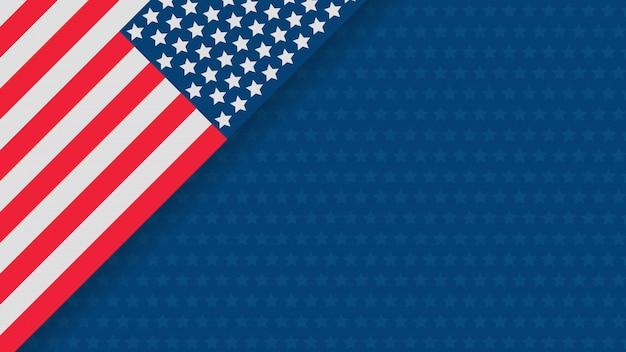 Plantilla de banner de celebración día de la independencia de estados unidos
