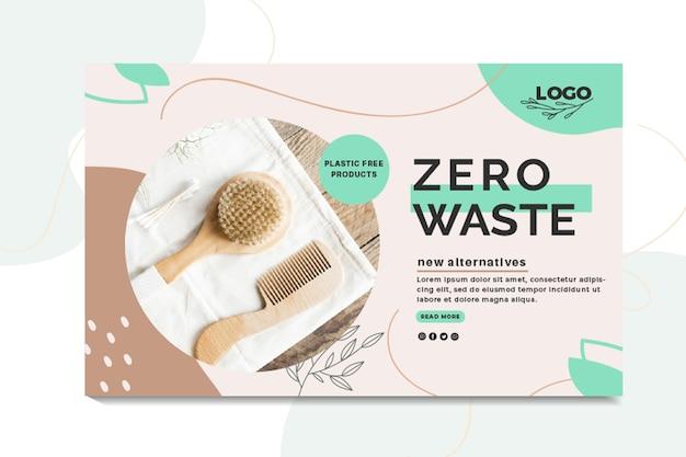 Plantilla de banner de cero residuos