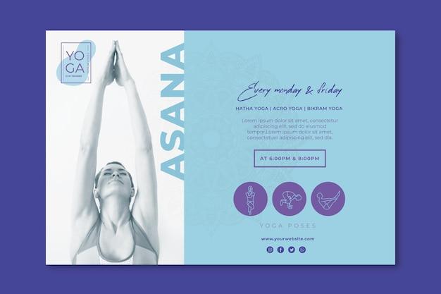 Plantilla de banner de clases de yoga