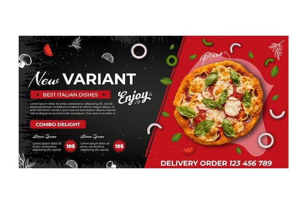 Plantilla de banner de comida italiana