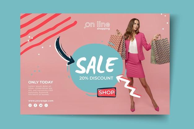 Plantilla de banner de compras online
