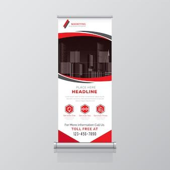 Plantilla de banner corporativo enrollable