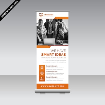 Plantilla de banner corporativo enrollable