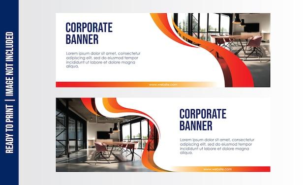 Plantilla de banner corporativo