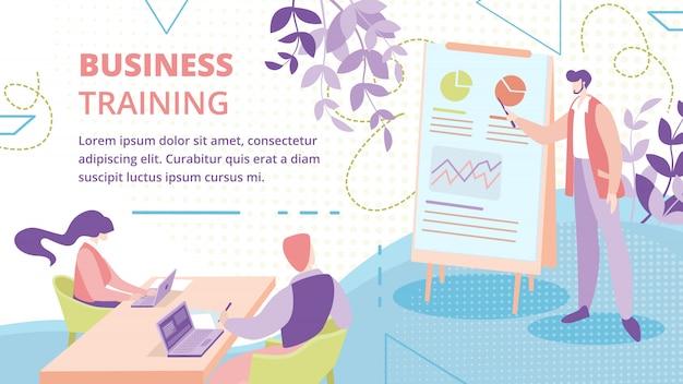Plantilla de banner de curso de capacitación para empresarios