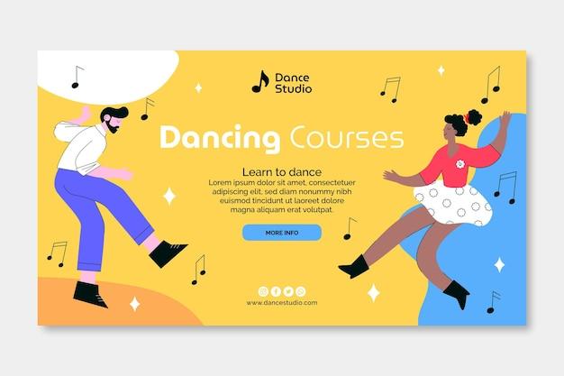 Plantilla de banner de cursos de baile