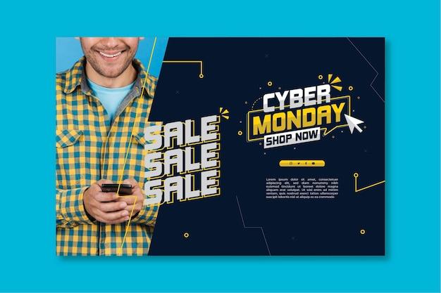 Plantilla de banner de cyber monday