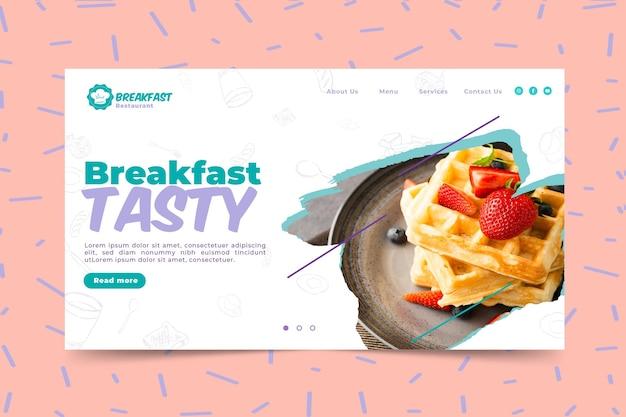 Plantilla de banner de desayuno sabroso