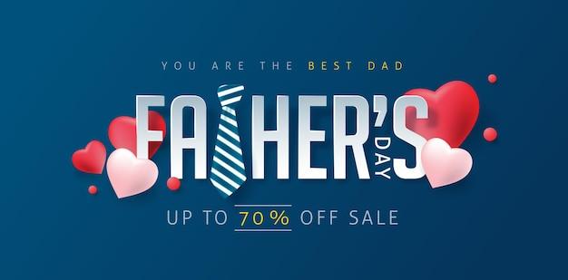 Plantilla de banner de descuento de feliz día del padre