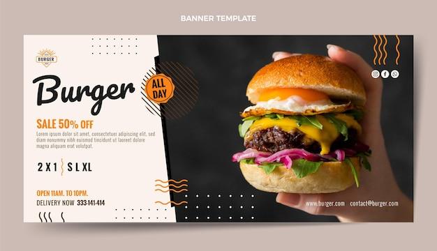 Plantilla de banner de descuento de hamburguesa