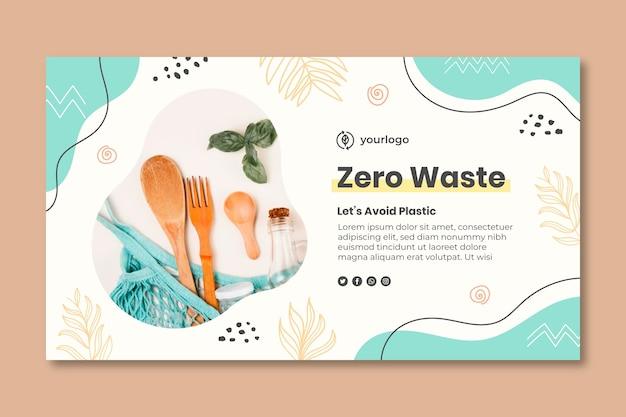 Plantilla de banner de desperdicio cero