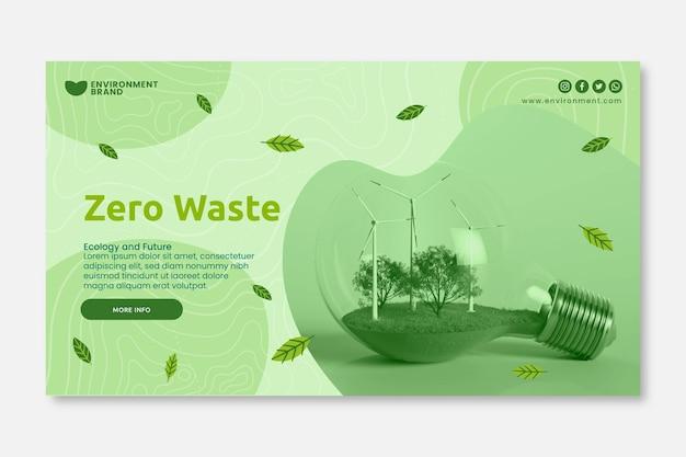 Plantilla de banner de desperdicio cero vector gratuito