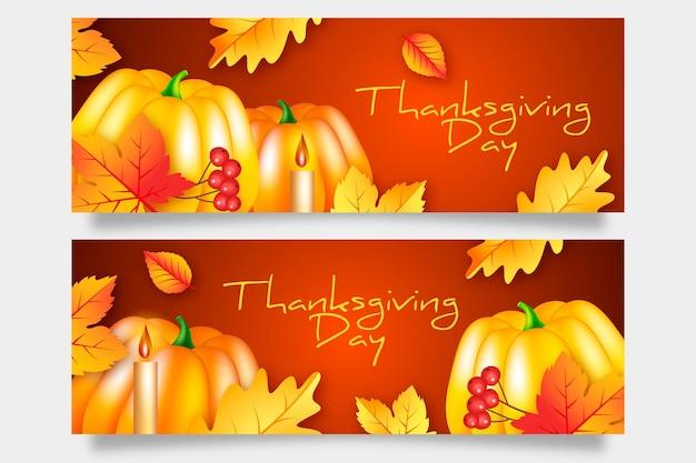 Plantilla de banner del día de acción de gracias