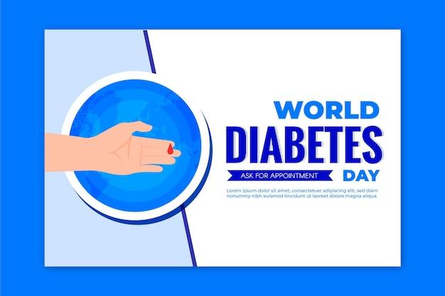 Plantilla de banner del día mundial de la diabetes