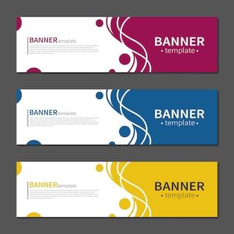 Plantilla de banner de diseño geométrico abstracto. banners de diseño de forma líquida de vector. plantilla lista para usar en diseño web o de impresión.