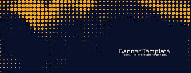 Plantilla de banner de diseño de semitono amarillo elegante