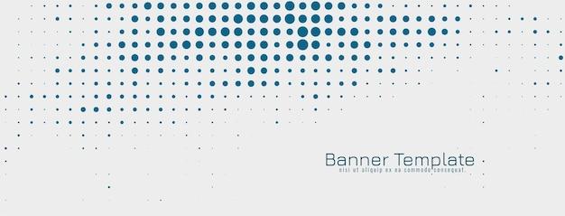 Plantilla de banner de diseño de semitono elegante