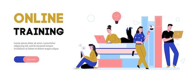 Plantilla de banner de educación en línea