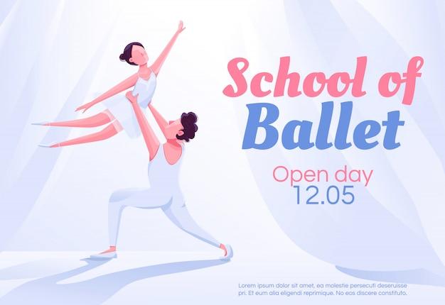 Plantilla de banner de escuela de ballet
