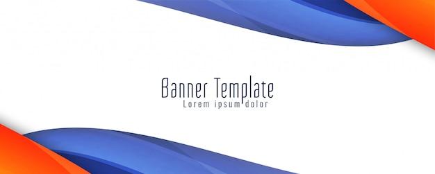 Plantilla de banner con estilo ondulado abstracto