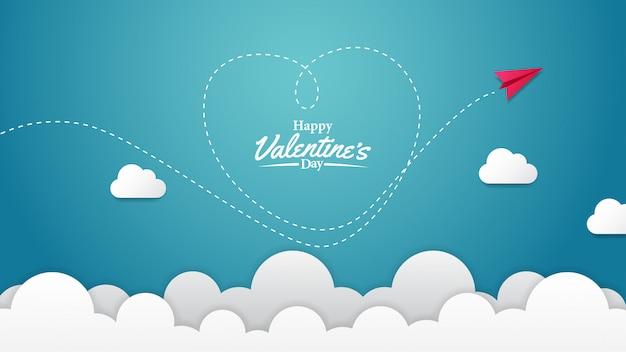 Plantilla de banner de feliz día de san valentín
