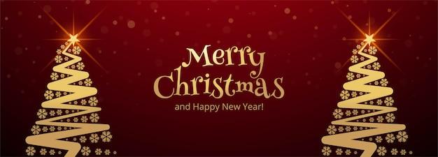 Plantilla de banner de feliz navidad con adornos