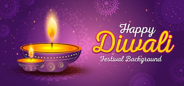 Plantilla de banner del festival de diwali