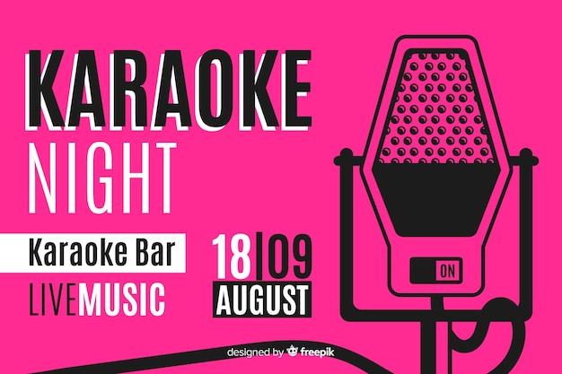 Plantilla de banner de fiesta de karaoke creativo