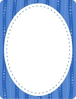 Plantilla de banner de forma ovalada vacía