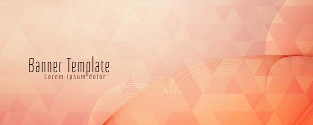 Plantilla de banner geométrico abstracto