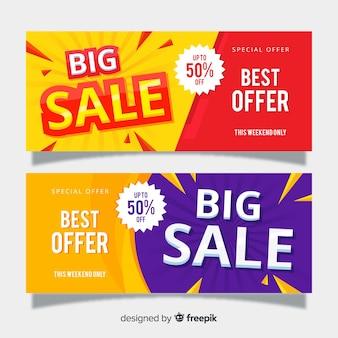 Plantilla de banner de grandes compras